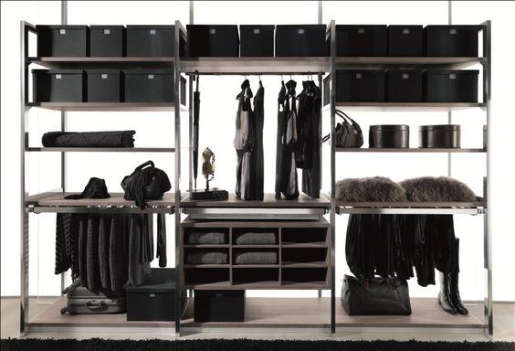 Sistema de almacenaje en baldas para interior de vestidor - Armarios para almacenaje ...