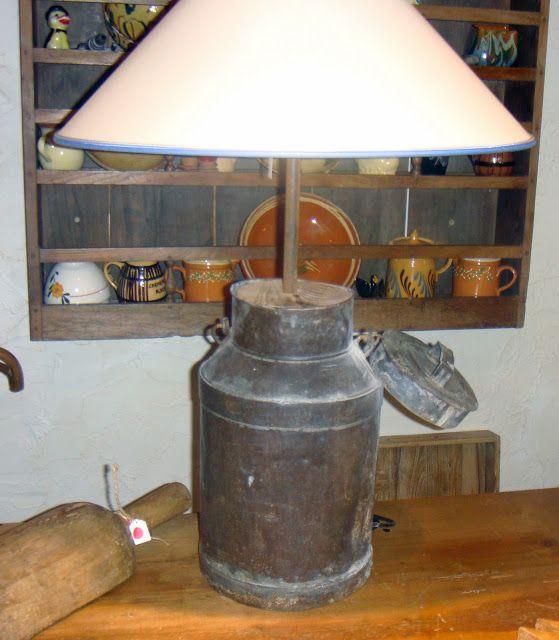 Le Galetas Brocante: Lampe pot à lait