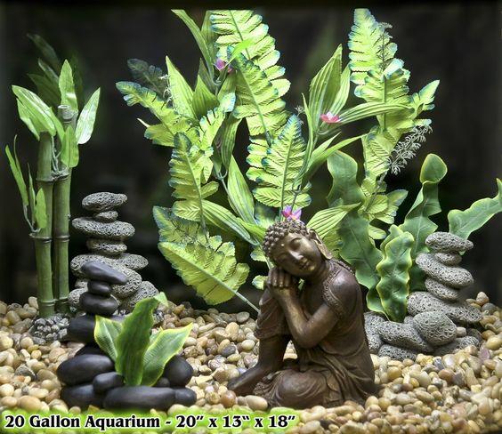 Aquarium ornaments aquarium and pet supplies on pinterest for Zen fish tank