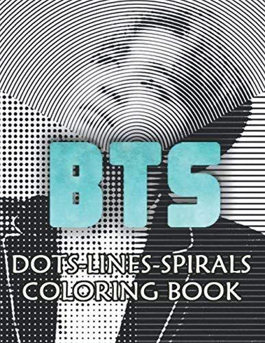 Bts Dots Lines Spirals Coloring Book Stress Relief Coloring Books Coloring Books Dotted Line