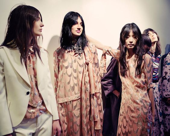Backstage at Creatures of the Wind, New York Fashion Week, autumn/winter 2015-16.