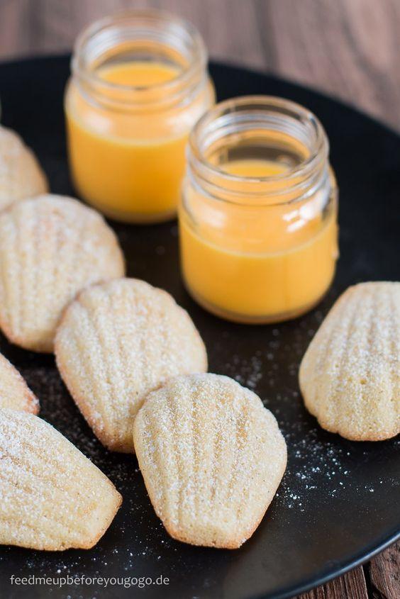 Eierlikör-Madeleines mit Vanille und Zitrone Rezept Feed me up before you go-go