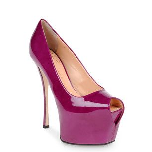 Giuseppe Zanotti Peep-toe Pump in cyclamen (color)....Love this color