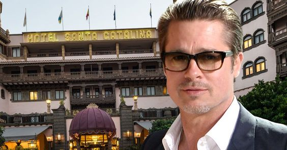 The 52-year-old actor stayed at the five star Santa Catalina Hotel in the resort while filming the World War II drama