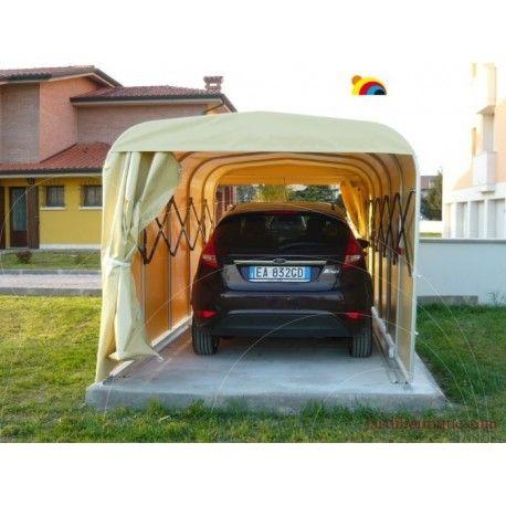 box garage pour voitures abri pliant en aluminium et toile pvc garage abri voiture. Black Bedroom Furniture Sets. Home Design Ideas