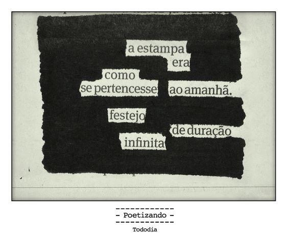 "Poesia ""achada"" no jornal do dia 19/01 pela poeta Marina Wisnik."