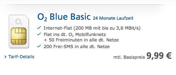 NEU: O2 Blue Basic mit O2-Flat, 200 MB Internet, 50 Freiminuten, 200 SMS für 9,99 EUR! - http://apfeleimer.de/2013/09/neu-o2-blue-basic-mit-o2-flat-200-mb-internet-50-freiminuten-200-sms-fuer-999-eur - Der neue O2 Blue Basic ist da! Das Upgrade des O2 Blue Basic Tarifs für 9,99 Euro vervierfacht das Inklusivvolumen zum Internetsurfen von 50 MB auf 200 MB aber auch die kostenlosen SMS von 50 auf 200 Stück pro Monat. Der Tarif O2 Blue Basic bietet zusätzlich eine kostenlose