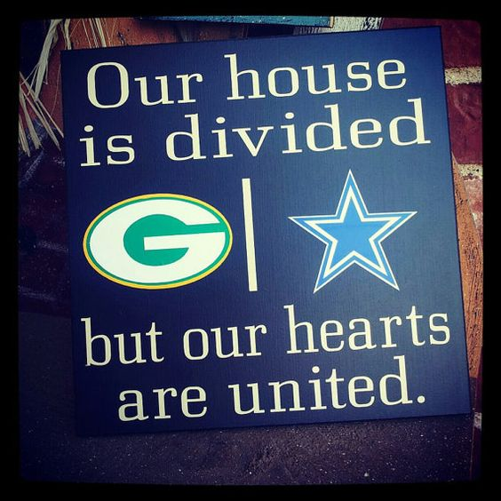 Dallas Cowboys Welcome Home Sign: Personalized NFL House Divided Sign