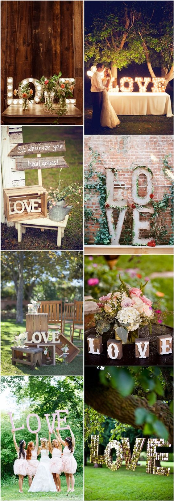 35 Awesome LOVE Letters Wedding Decor Ideas | http://www.deerpearlflowers.com/35-awesome-love-letters-wedding-decor-ideas/: