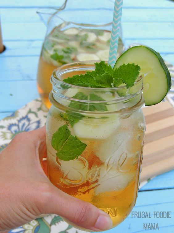 Cucumber-Mint Green Tea Sangria | Seasons, Sangria and Summer
