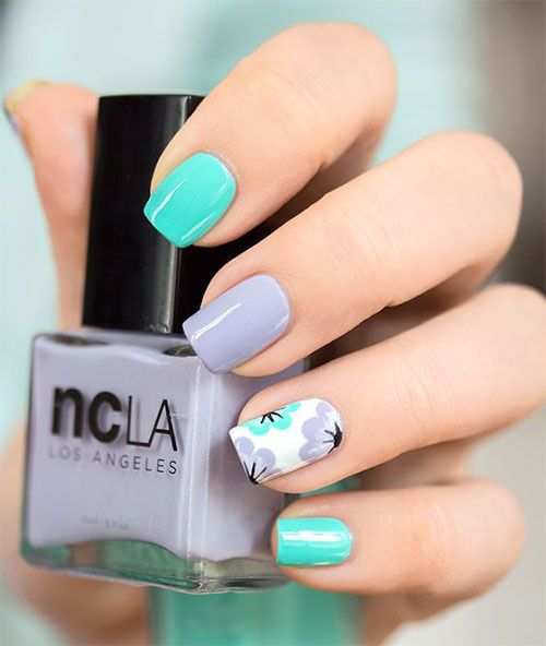 20 Simple Easy Spring Nails Art Designs Ideas 2017 With
