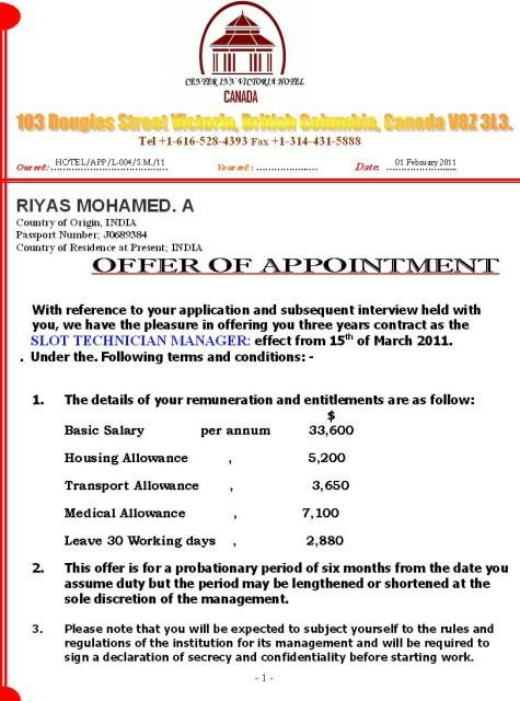 appointment letter government official template word and pdf - letter of appointment
