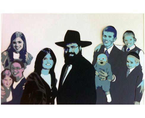 Craig Tinsky Papercut Art Hand Cut Layered Paper Collage