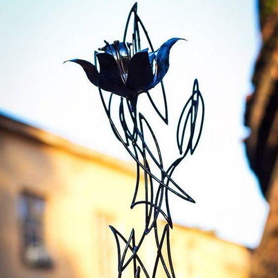 Metal flowers от WildWelding на Etsy