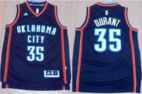 Thunder #35 Kevin Durant Black New Fashion Stitched NBA Jersey