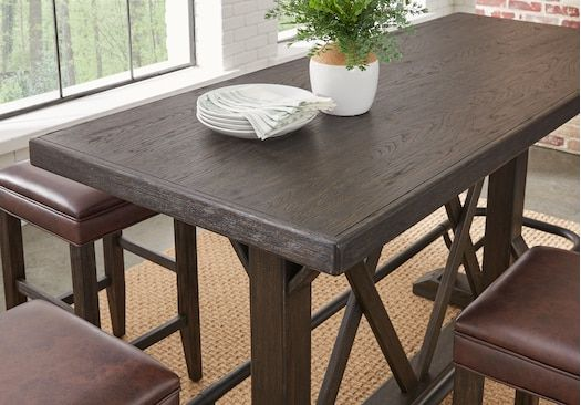 Eric Church Highway To Home Tap Room Brown Bar Height Dining Table Bar Height Dining Table Dining Table Tap Room