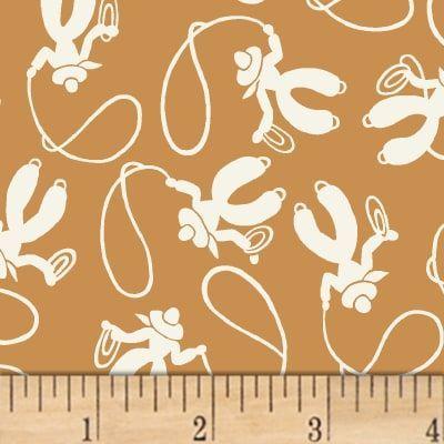 Storybook Ranch Cowboys Brown Cowboysandcowgirls Storybook Ranch Cowboys Brown Discount Designer Fabric Fabric Com