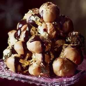 Salted caramel and chocolate profiteroles Recipe | delicious. Magazine free recipes