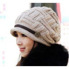 Women Knit Snow Hat Winter Snowboarding Beanie Crochet Cap