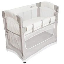 Arms Reach Luxe Mini Arc CoSleeper Bedside Bassinet. Awesome for when baby is newborn and you need them close by to nurse!