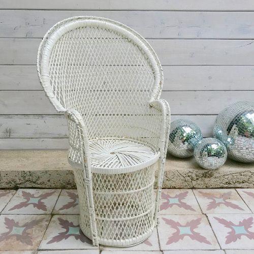 Fauteuil Enfant En Rotin Blanc Avec Images Meuble Fauteuil