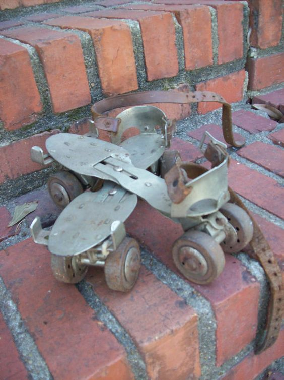 Vintage Roller Skates...you had to have a skate key to work them....loved when I had some to skate with friends!