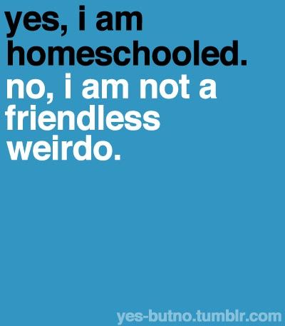I HAVE FRIENDS JUST AS UNSOCIAL AS I AM! - I thought of Alli and Molly I'm sorry it's funny Alli flips when people diss homeschoolers