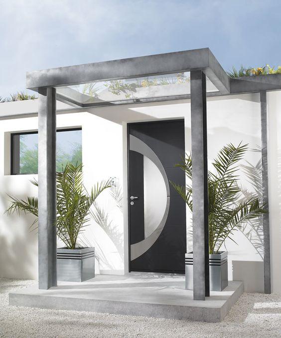 Porte d 39 entr e aluminium zilten mod le atlantide portes for Porte zilten