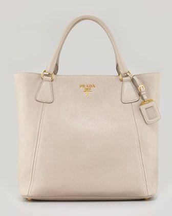 prada handbags purses - Daino+Snap-Top+Tote+Bag,+Light+Gray+by+Prada+at+Neiman+Marcus ...