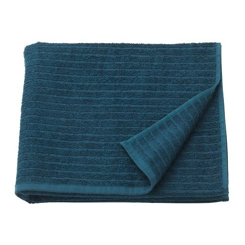 Vagsjon Bath Towel Dark Blue 28x55 With Images Blue Towels