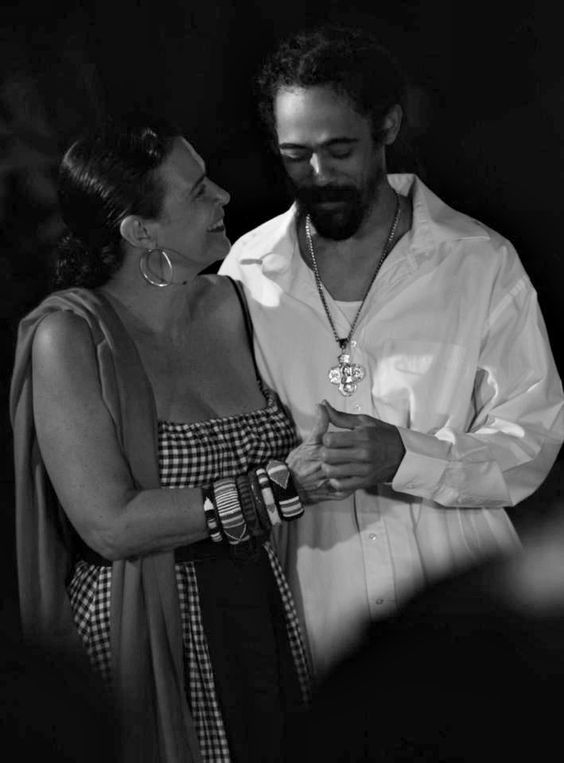 family photo shoot ideas at the beach - Damian Marley and Cindy Breakspeare