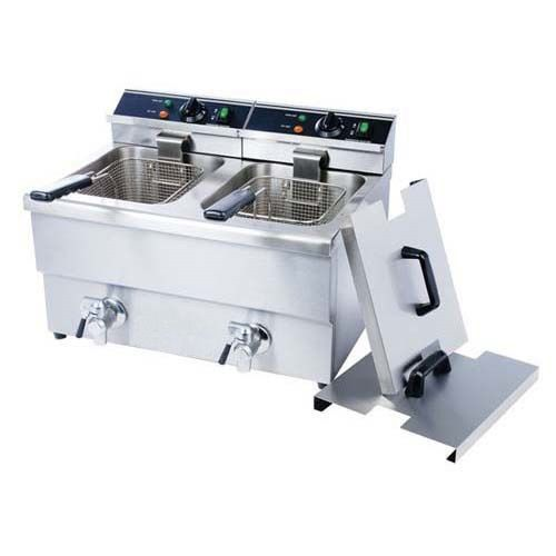 Kitchen Monkey Kmdf 12l 2 Double Tank Electric Countertop Deep
