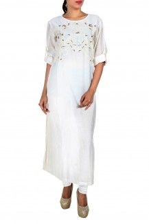 White Embroidered Kurta By Samant Chauhan  Rs. 11,000
