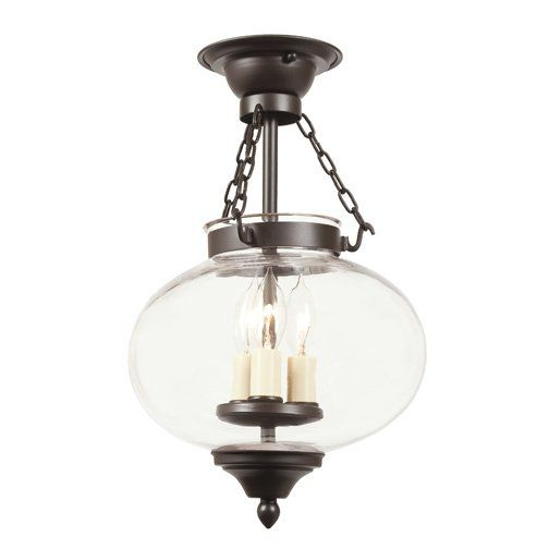 JVI Designs 1174 3 light Semi-Flush Ceiling Fixture from the Classic Onions collection - LightingDirect.com $320