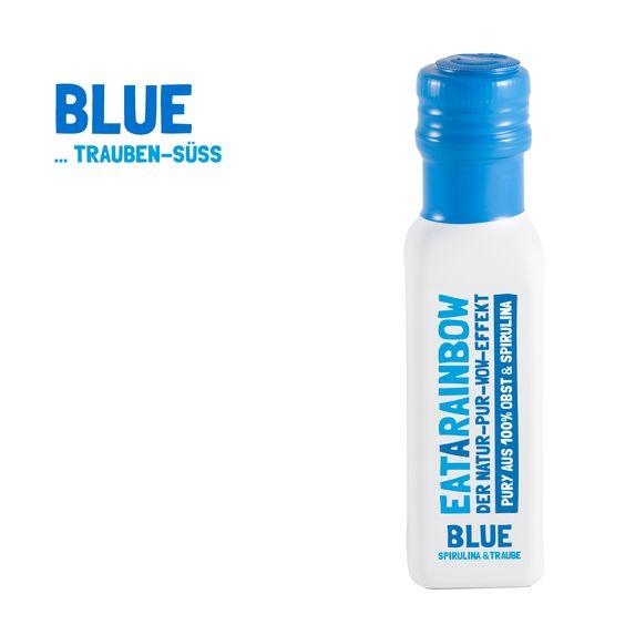 Unser Blue vereint die Süße aus Trauben und Äpfeln mit der blauen, natürlichen Power aus der Spirulina Alge #blue #blaueswunder #spirulina #pury #eatarainbow