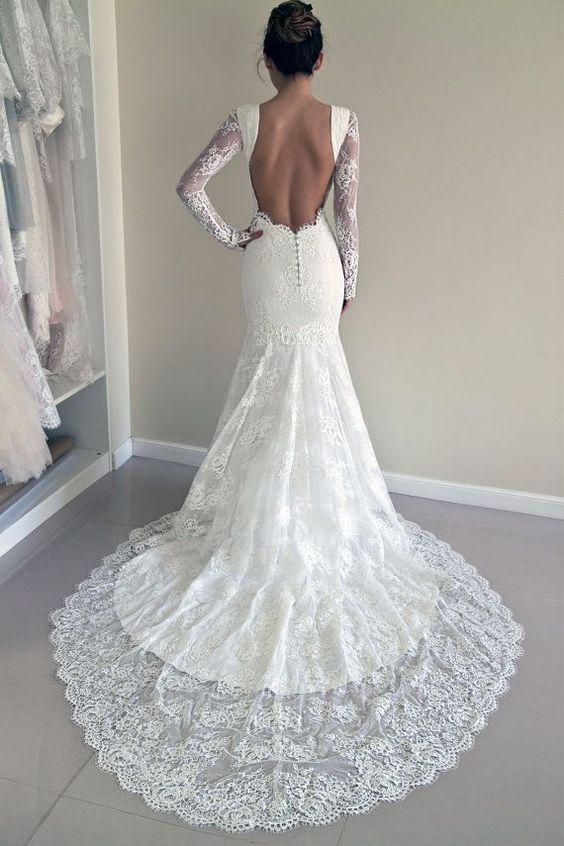 Lace Wedding Dress Custom Made Wedding Dress by PolinaIvanova