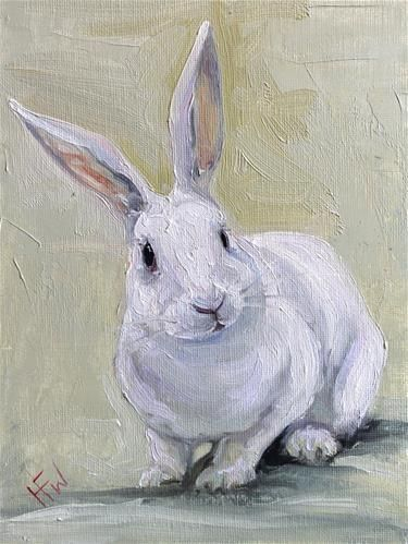 Pin By Yvonne Sims On Farm Animals In 2020 Bunny Painting Animal Paintings Rabbit Painting