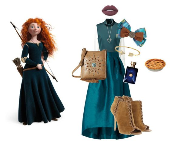 """Merida"" by disneyrosa ❤ liked on Polyvore featuring Merida, See by Chloé, Coast, TIBI, Michael Kors, Aamaya by priyanka, Bling Jewelry, M&F Western, Disney and Lime Crime"