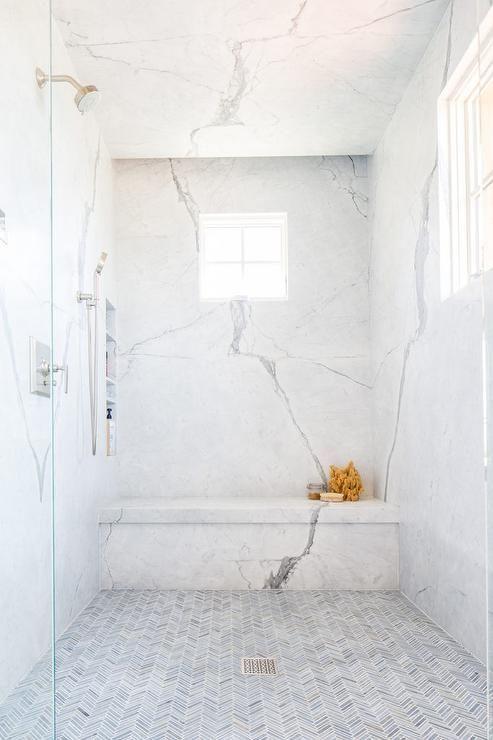 25 Cool Shower Benches For Maximal Comfort Master Bathroom Shower Shower Floor Tile Marble Showers