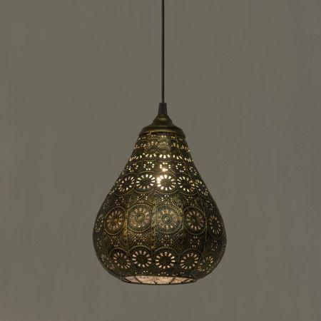 Lámpara colgante BILLA dorada #iluminacion #decoracion #interiorismo