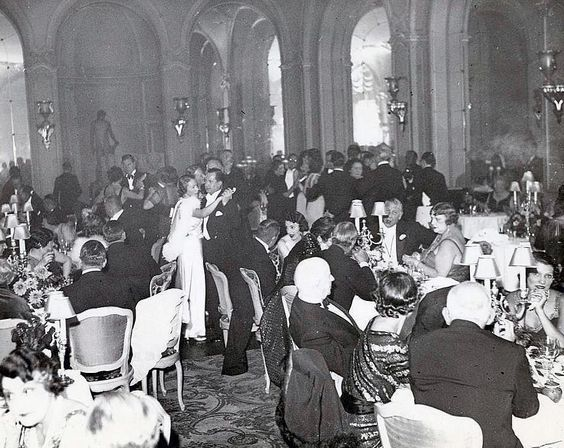 New Year party at the Ritz Hotel in Paris, early 1920s.