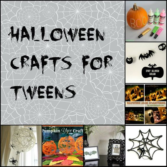 Crafts halloween and halloween decorations on pinterest for Holiday crafts for tweens