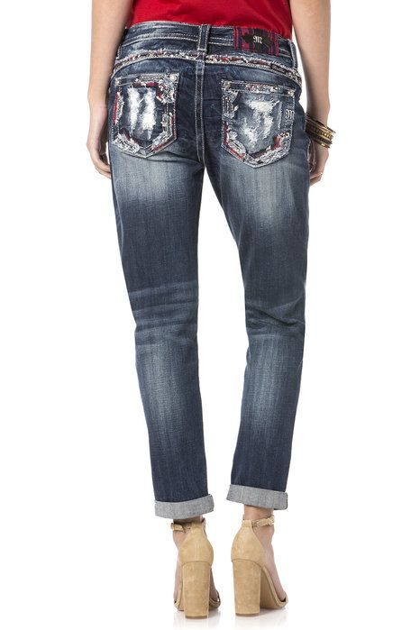 """Check out """"Cut Loose Boyfriend Jeans"""" from Miss Me"""