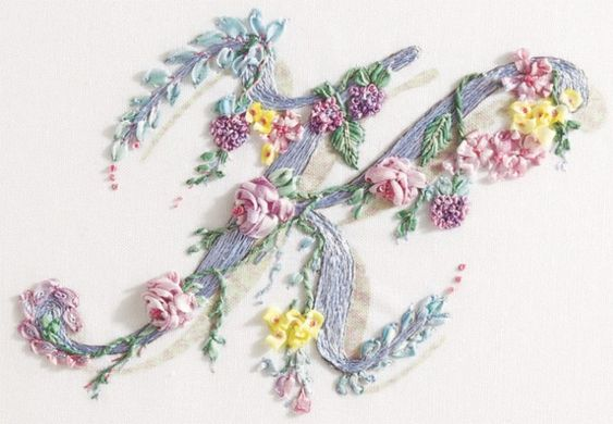 another ribbon embroidery K