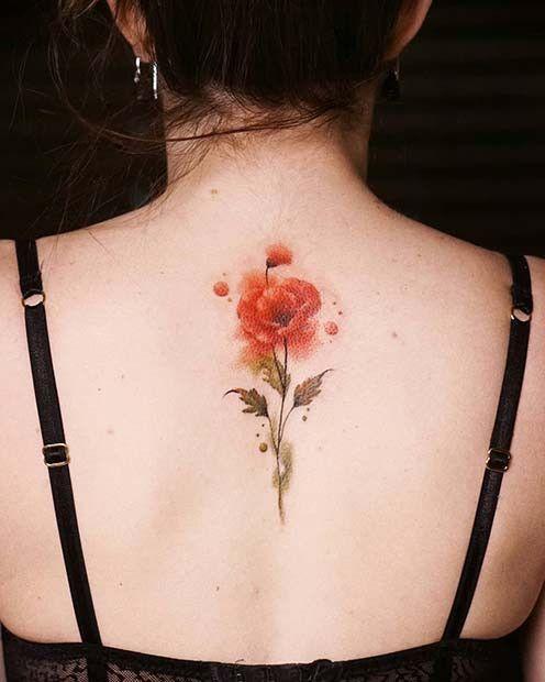 21 Modisches Mohn Tattoo Ideen Fur Frauen Tattoo Rucken Tattoo Ideen Mohnblumen Tattoo