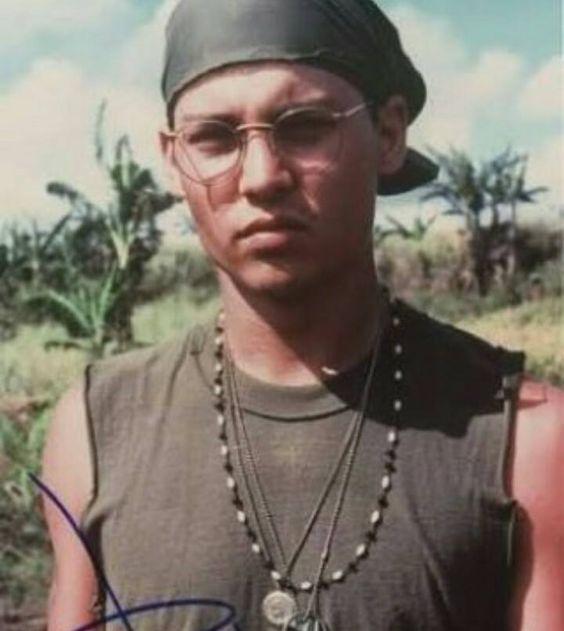 Rare pic of Johnny Depp