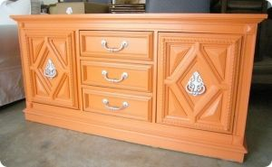 Image detail for -Love this idea for old thrift store furniture. Swarmhome.com ...