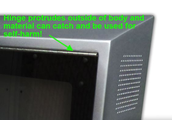 ITS ligature resistent TV enclosure fails