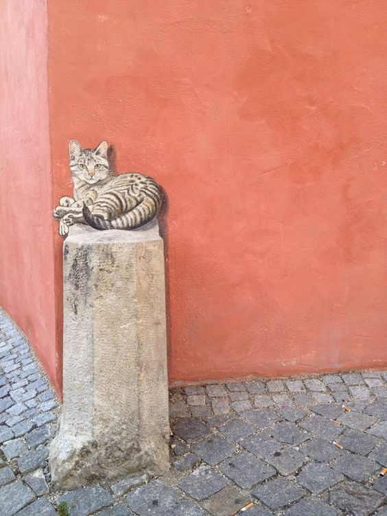 Vrai faux chat ! (Unknown Artist. City: Eichstätt).: