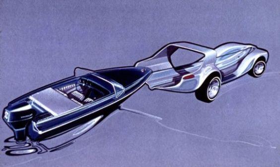 1970 Brooks Stevens Evinrude Lakester sketch